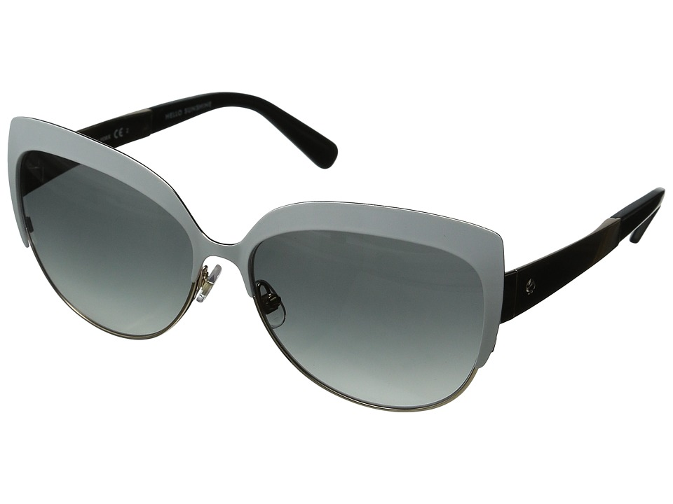 Kate Spade New York - Raelyn (White/Gray Gradient) Fashion Sunglasses