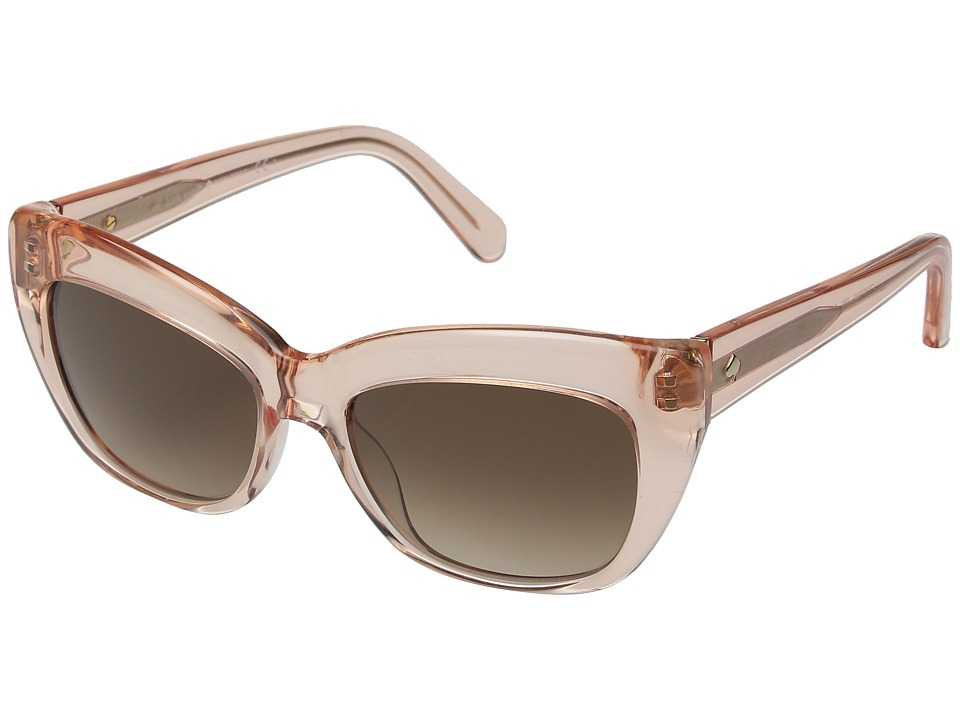 Kate Spade New York - Crimson (Crystal Flamingo/Warm Brown Gradient) Fashion Sunglasses