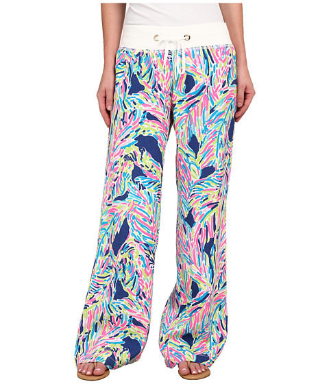 Lilly Pulitzer - Beach Pants (Indigo Palm Reader) Women