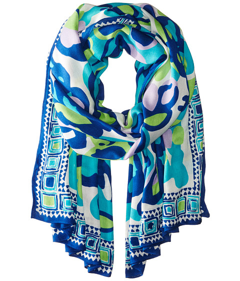 Lilly Pulitzer - Lillian Scarf (Sea Blue Its A Stretch) Scarves
