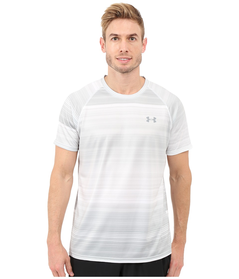 Under Armour - UA Tech Printed Tee (White/Glacier Gray/Steel) Men's T Shirt
