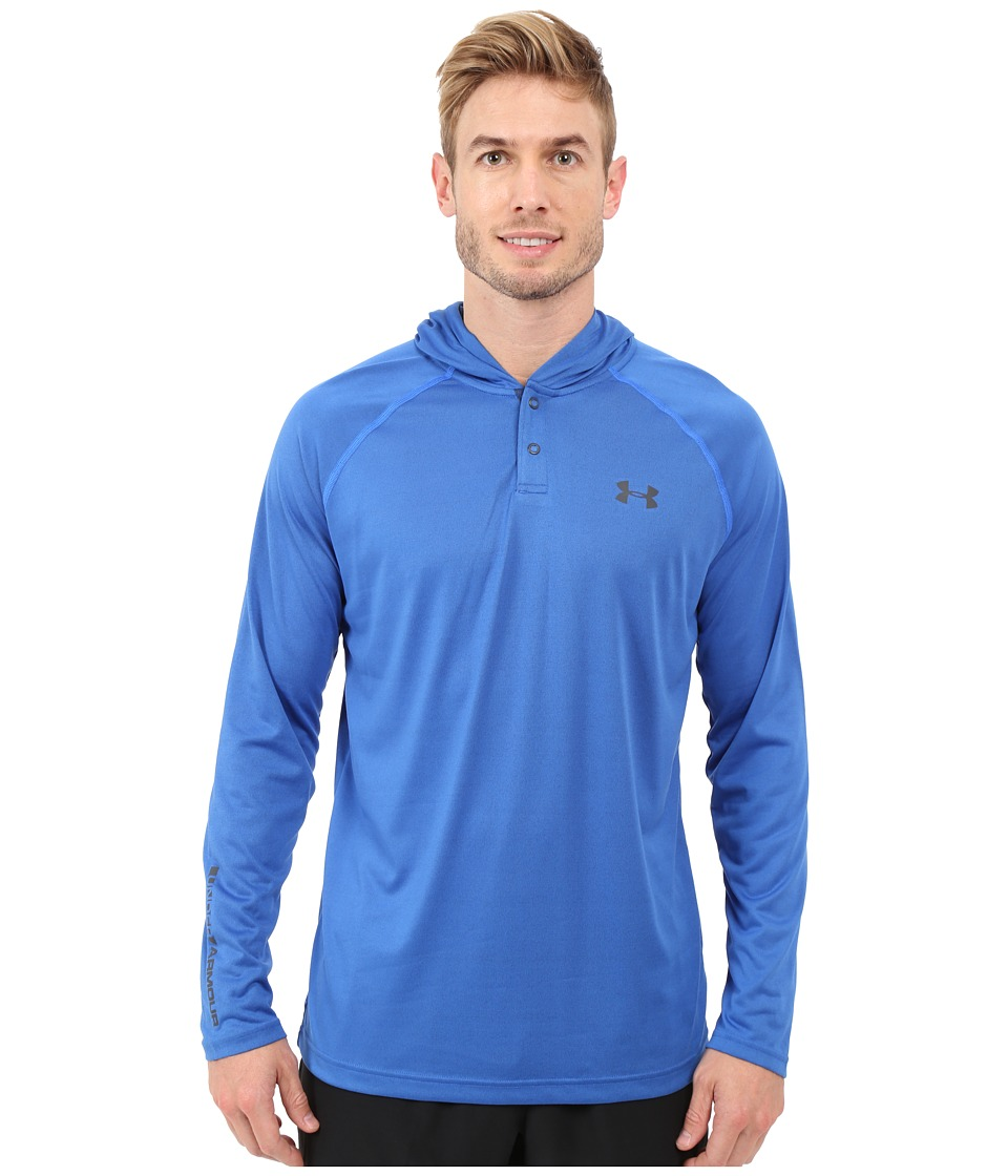 Under Armour - UA Techtm Popover Henley (Ultra Blue/Stealth Gray/Stealth Gray) Men's Long Sleeve Pullover
