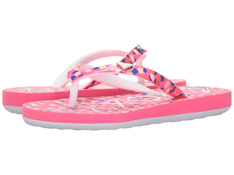 Roxy Kids Pebbles V (Little Kid/Big Kid) (Pink Carnation) Girls Shoes