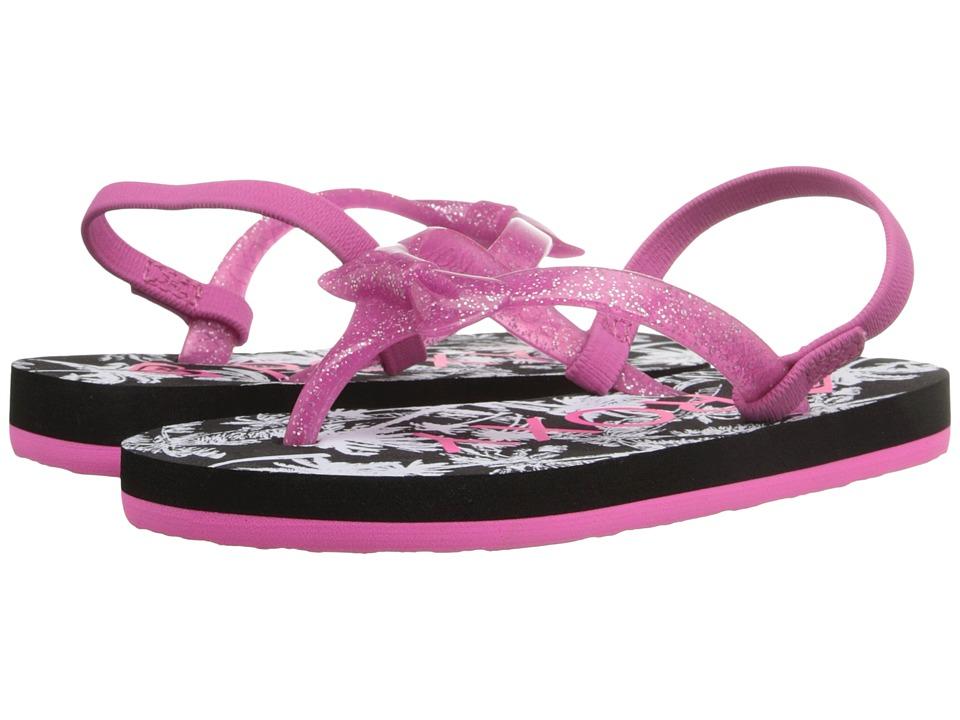 Roxy Kids Fifi (Toddler) (Black/White) Girls Shoes