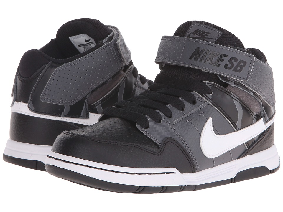 Nike SB Kids - Mogan Mid 2 Jr (Little Kid/Big Kid) (Black/Dark Grey/White) Boys Shoes