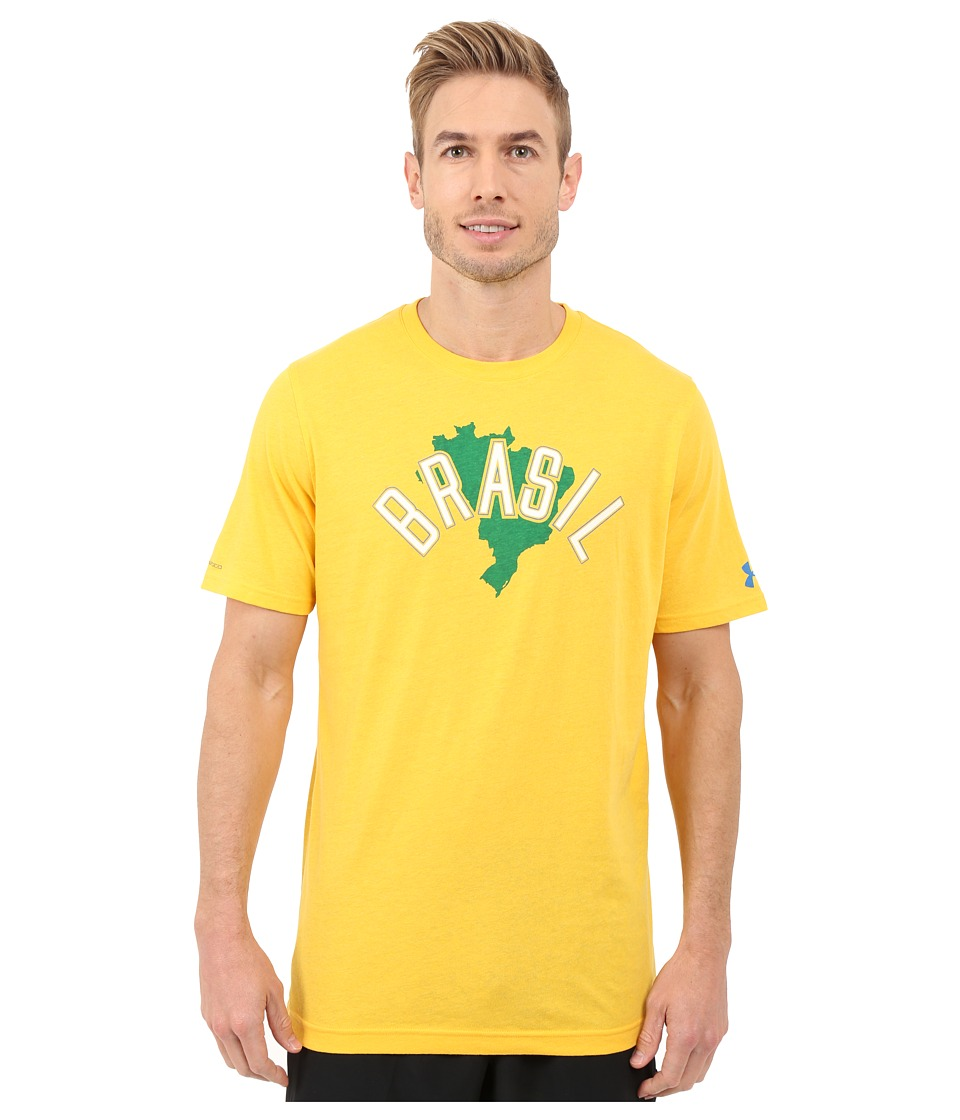 Under Armour - Brazil Country Pride Tri-Blend Short Sleeve Tee (Lemonade/Ivory/Superior Blue) Men's T Shirt