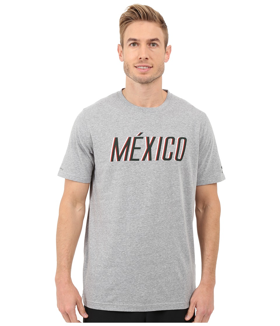Under Armour - Mexico Country Pride Tri-Blend Short Sleeve Tee (Steel/Forest Green) Men's T Shirt