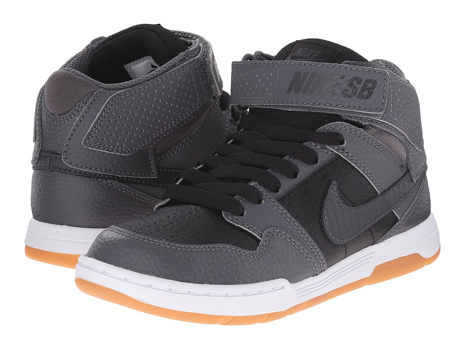 Nike SB Kids - Mogan Mid 2 Jr (Little Kid/Big Kid) (Black/Dark Grey/White/Anthracite) Girl's Shoes