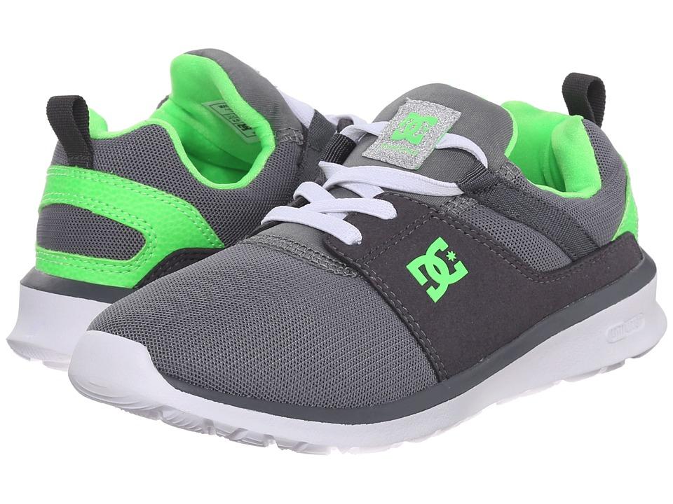 DC Kids - Heathrow (Big Kid) (Grey/White/Green) Boys Shoes