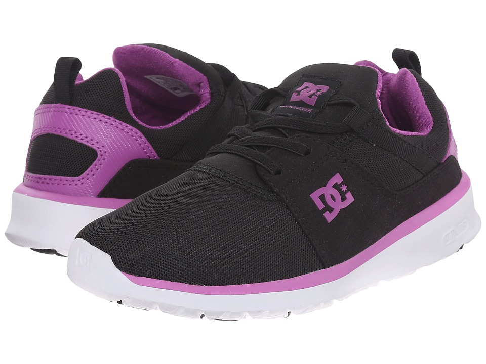 DC Kids - Heathrow (Big Kid) (Black/Purple) Girls Shoes