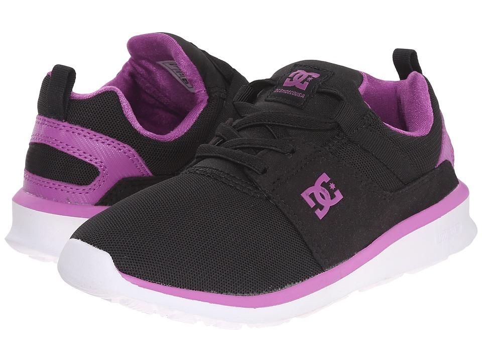 DC Kids - Heathrow (Little Kid) (Black/Purple) Girls Shoes