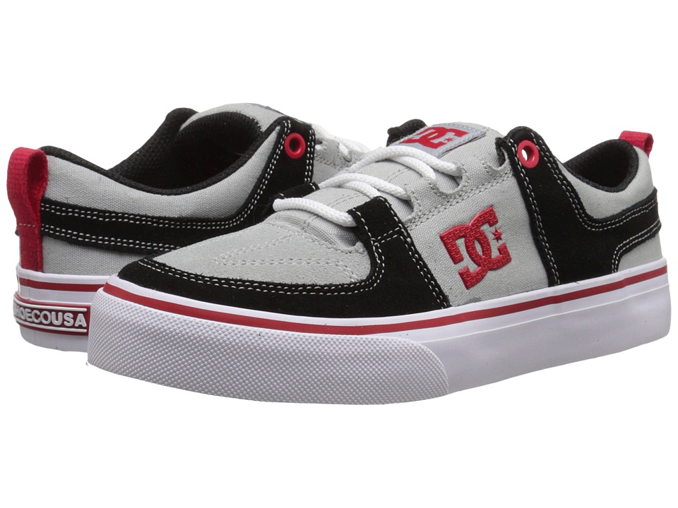 DC Kids - Lynx Vulc (Big Kid) (Grey/Red) Boys Shoes