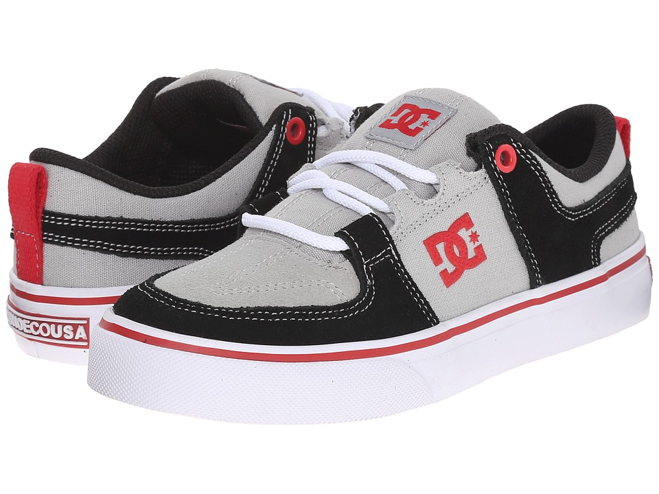 DC Kids - Lynx Vulc (Little Kid) (Grey/Red) Boys Shoes