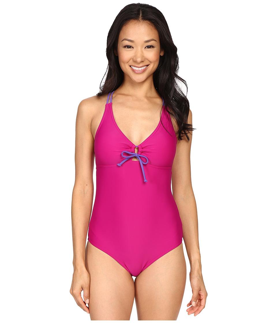 Prana - Inez One-Piece (Rich Fuchsia) Women's Swimsuits One Piece