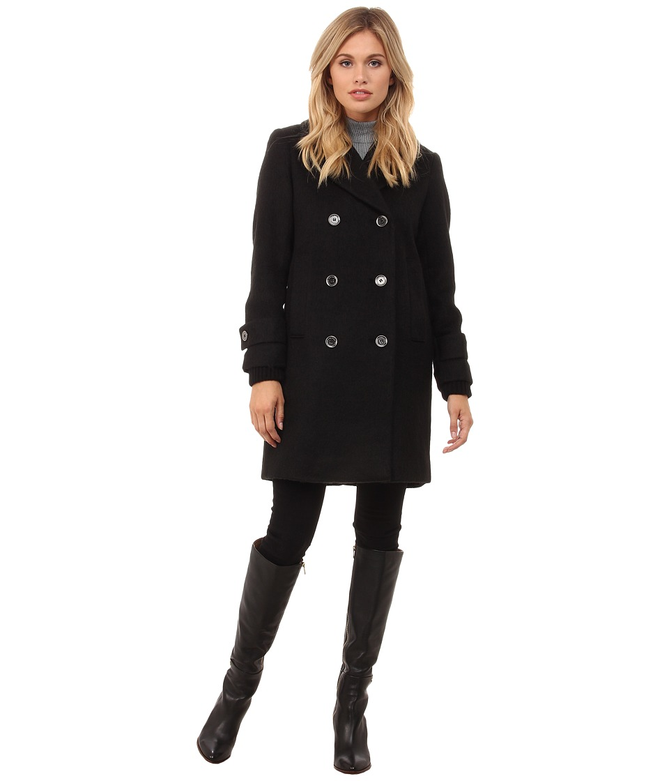 French Connection - Double Breasted Boyfriend Jacket (Black) Women's Coat