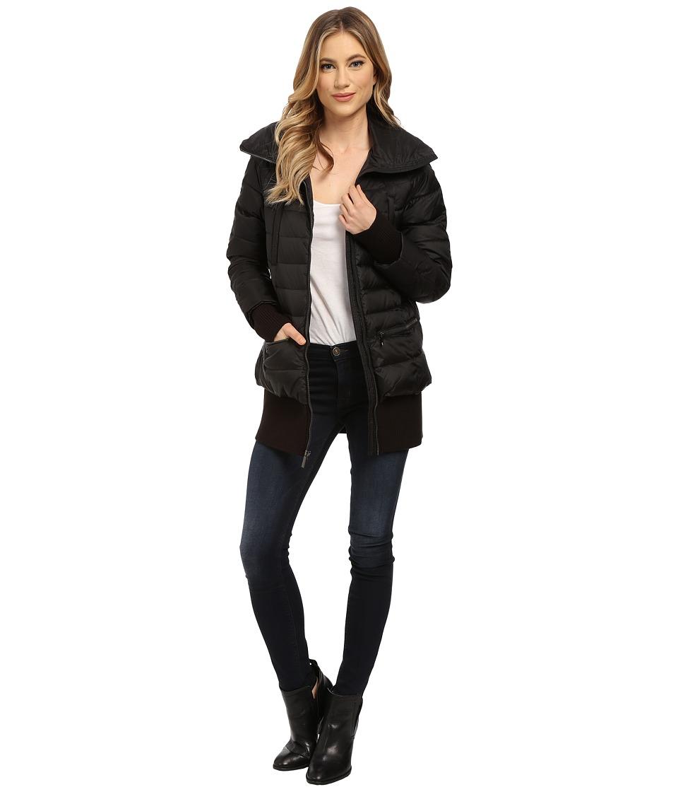 French Connection - Pillow Collar Short Puffer Coat (Black) Women's Coat plus size,  plus size fashion plus size appare