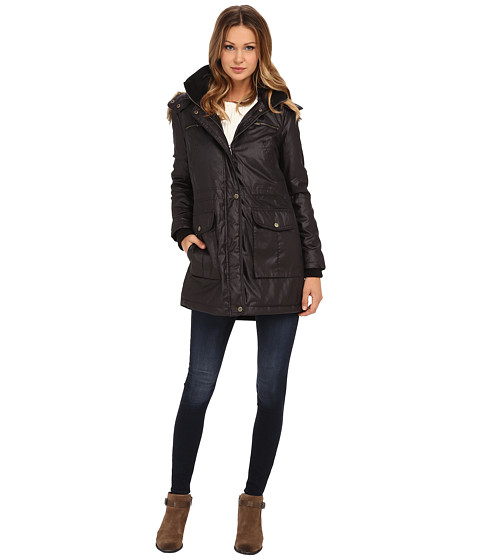 French Connection - Super Waxy Parka (Black) Women's Coat