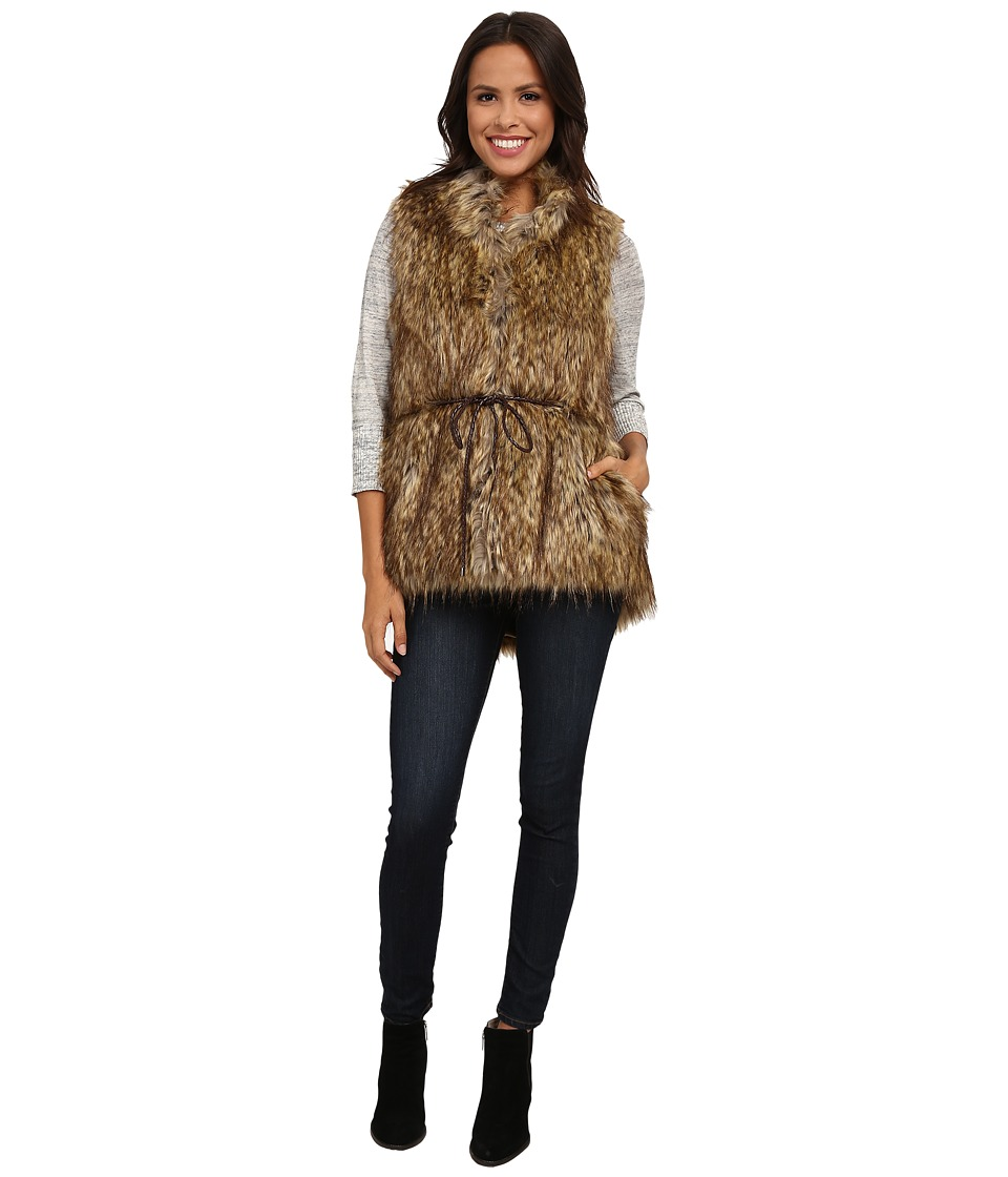 French Connection - Faux Fur Vest (Natural) Women's Vest