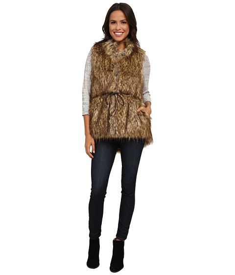 French Connection - Faux Fur Vest (Natural) Women