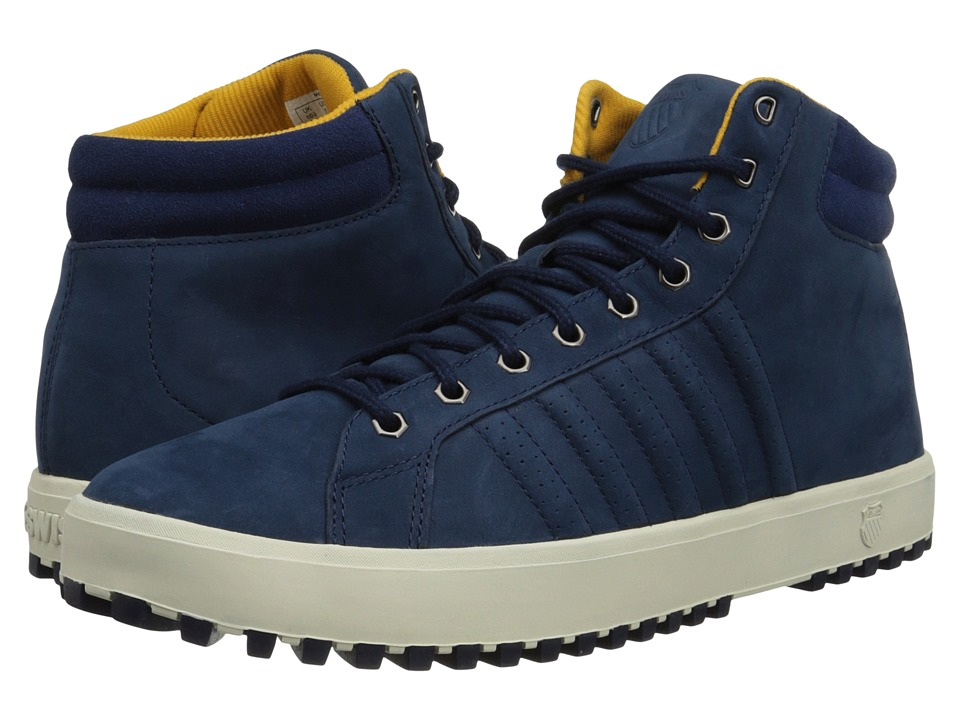K-Swiss - Adcourt '72 Boot (Insignia Blue/Navy/Golden Glow) Men's Boots
