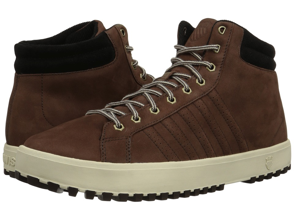K-Swiss - Adcourt '72 Boot (Coffee Bean/Jet Black/Antique White) Men's Boots