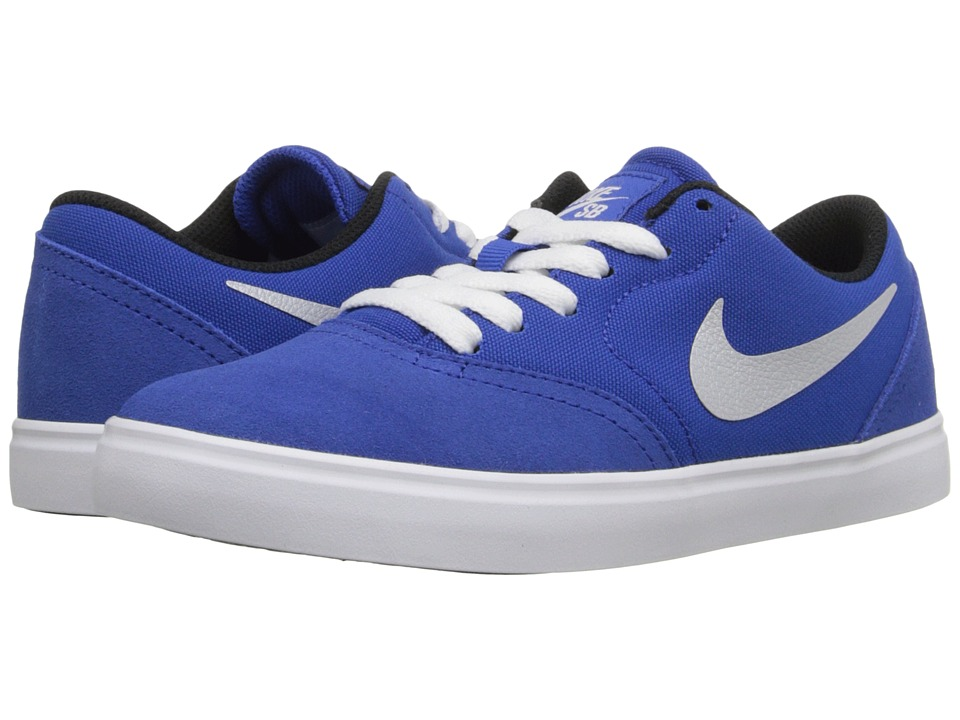 Nike SB Kids - Check (Big Kid) (Game Royal/Black/White/Metallic/Silver) Boy's Shoes