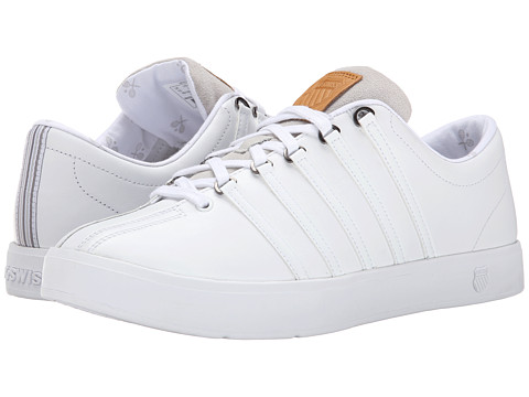 K-Swiss - The Classic II (White/White/Gull Gray) Men's Shoes