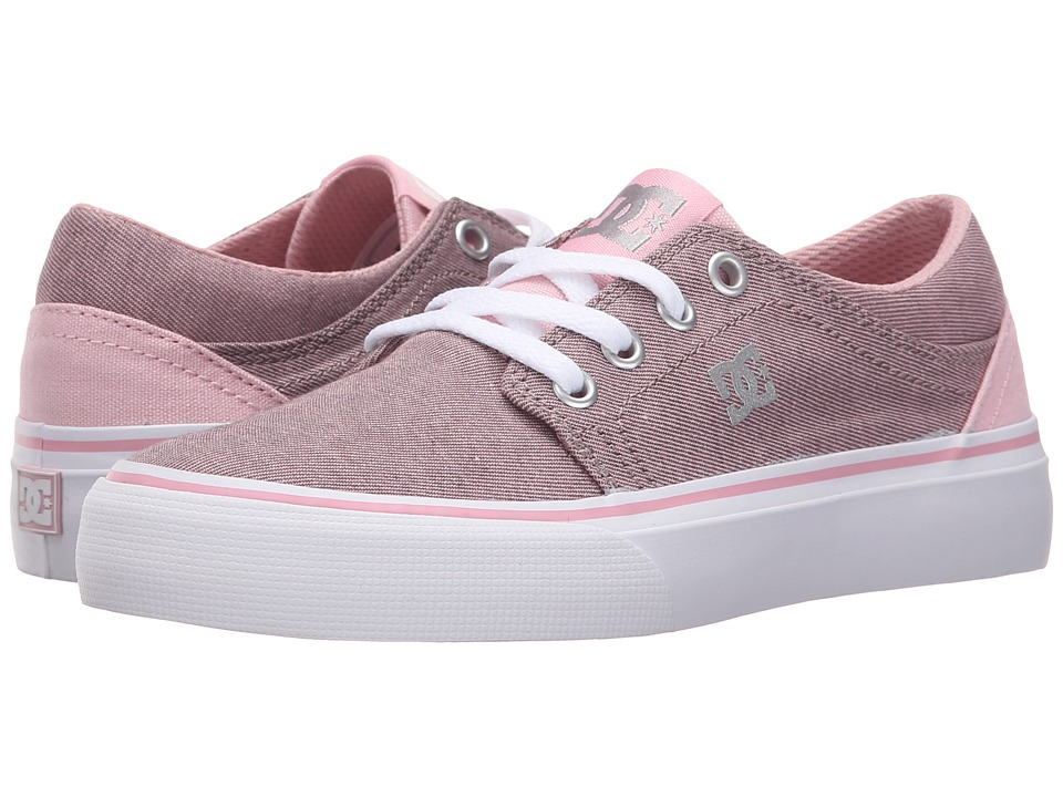 DC Kids - Trase TX SE (Little Kid) (Pink/White) Girls Shoes