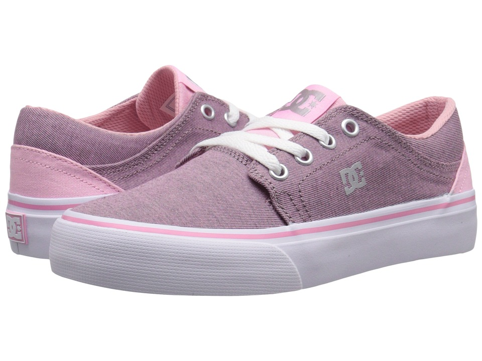 DC Kids - Trase TX SE (Big Kid) (Pink/White) Girls Shoes