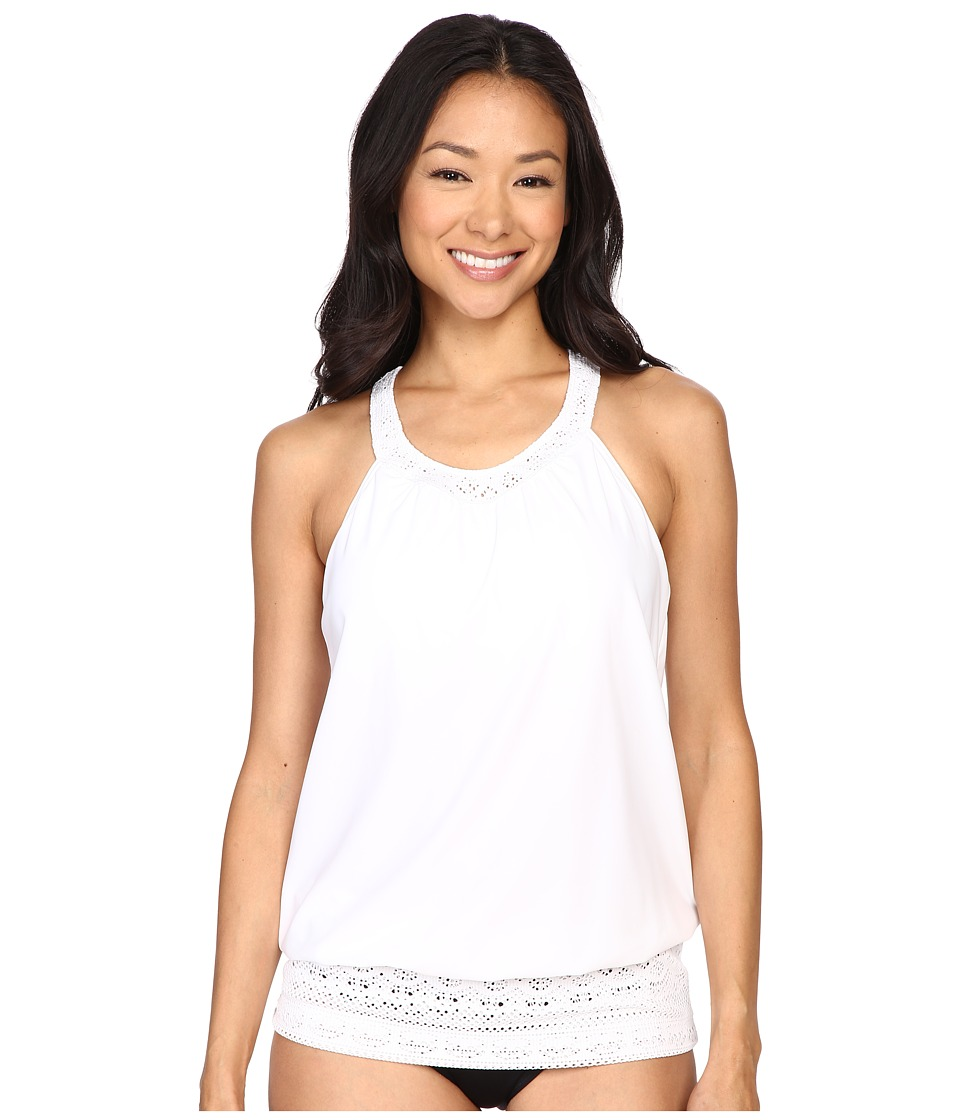 Prana - Ani Tankini Top (White) Women's Swimwear