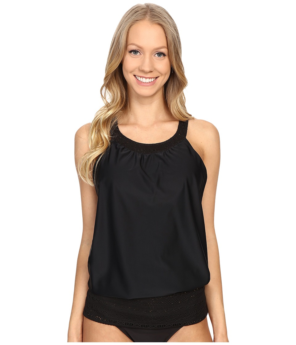 Prana - Ani Tankini Top (Black) Women's Swimwear
