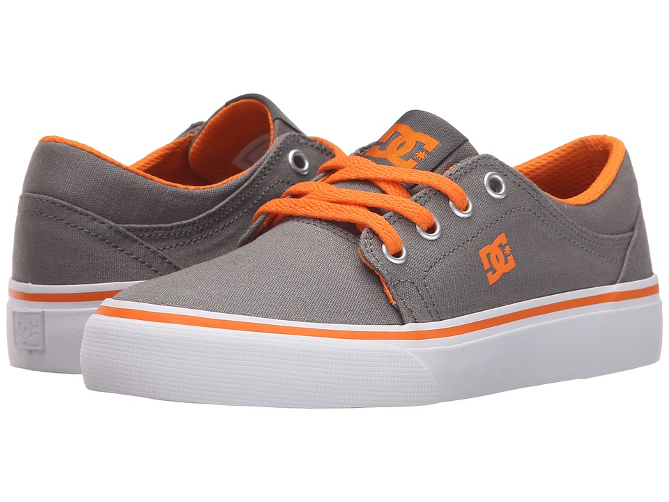 DC Kids - Trase TX (Little Kid) (Grey/Orange) Boys Shoes