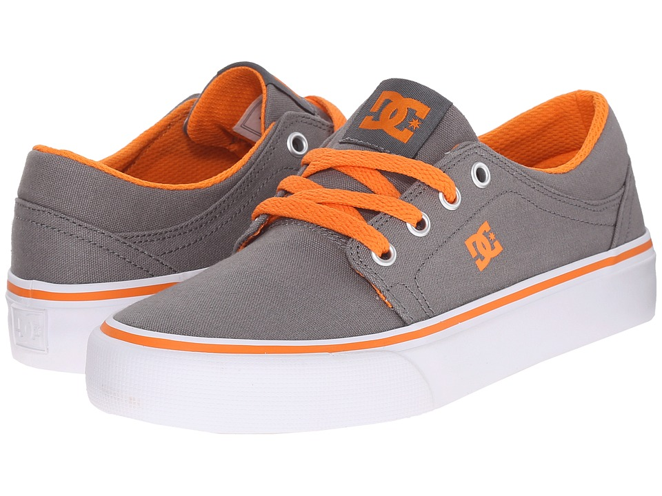 DC Kids - Trase TX (Big Kid) (Grey/Orange) Boys Shoes
