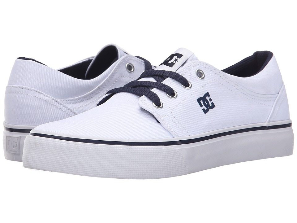 DC Kids - Trase TX (Big Kid) (White/Navy) Boys Shoes