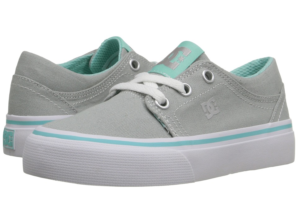 DC Kids Trase TX (Little Kid) (Grey/Blue) Girls Shoes