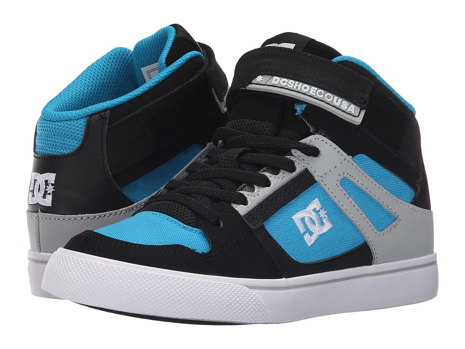 DC Kids - Spartan High EV (Little Kid) (Black/Blue/Grey) Boys Shoes