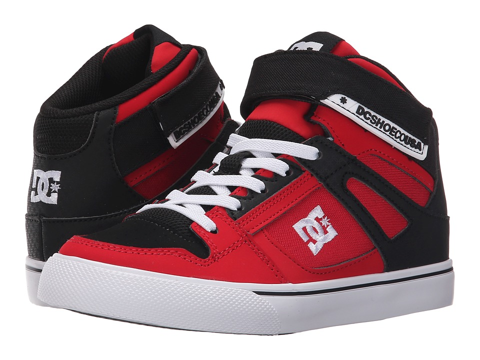 DC Kids - Spartan High EV (Little Kid) (Red/Black) Boys Shoes