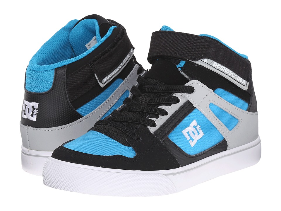 DC Kids - Spartan High EV (Big Kid) (Black/Blue/Grey) Boys Shoes