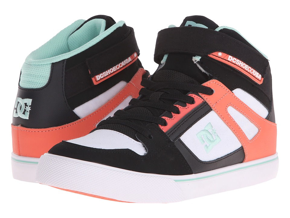 DC Kids - Spartan High EV (Big Kid) (Black/White/Pink) Girls Shoes