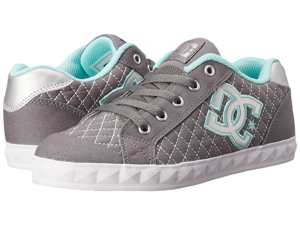 DC Kids - Chelsea Stud (Big Kid) (Grey/Blue) Girls Shoes