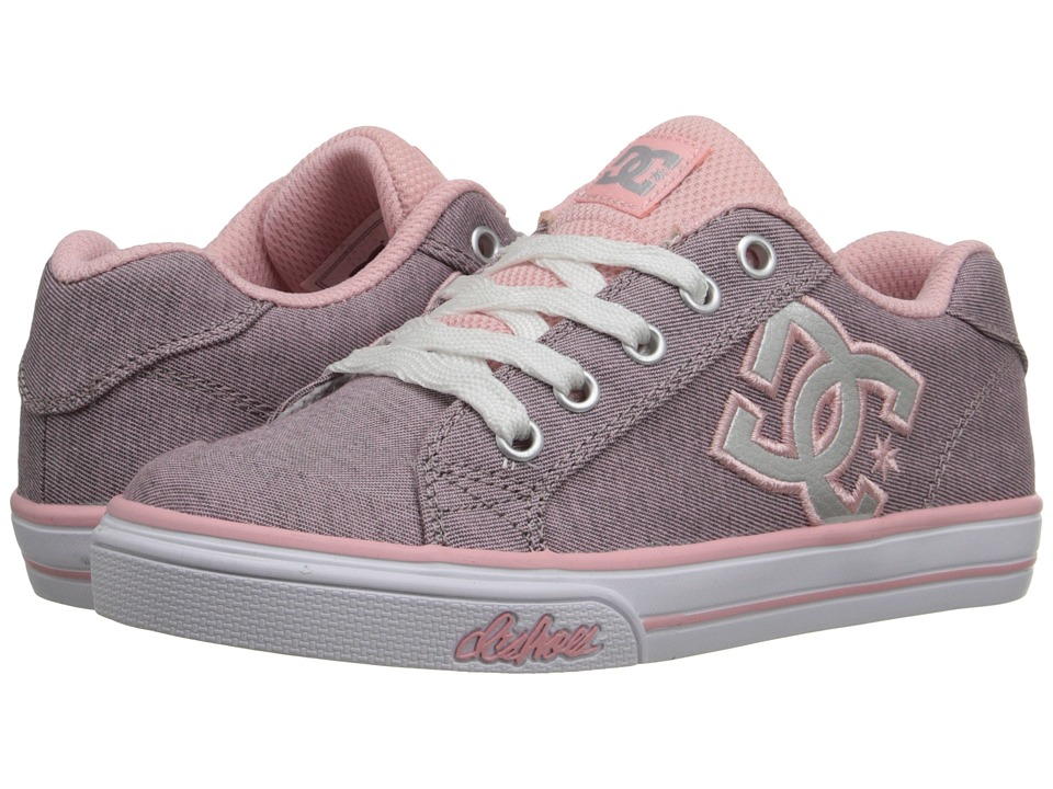 DC Kids - Chelsea TX SE (Little Kid) (Pink/Silver) Girls Shoes