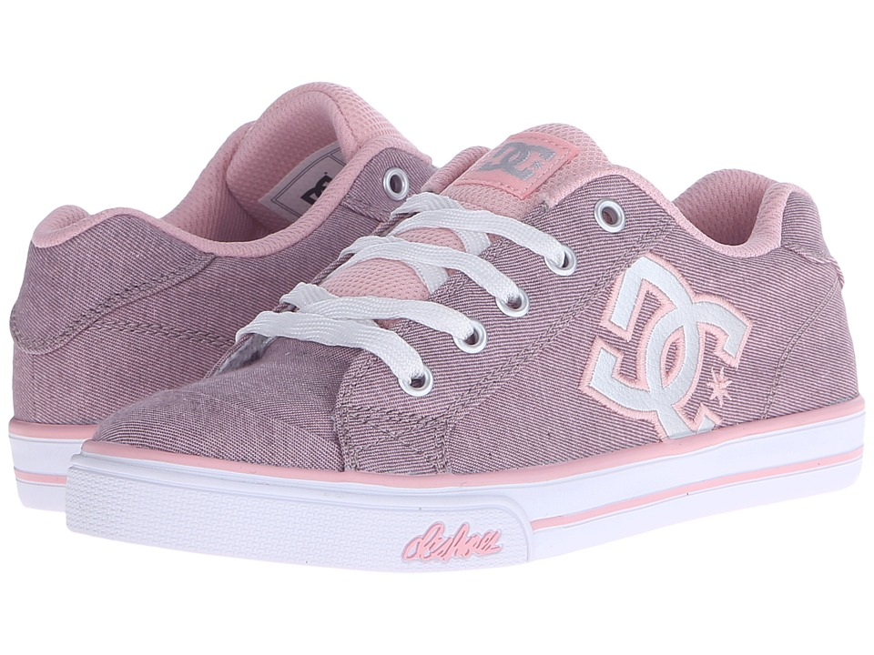 DC Kids - Chelsea TX SE (Big Kid) (Pink/Silver) Girls Shoes