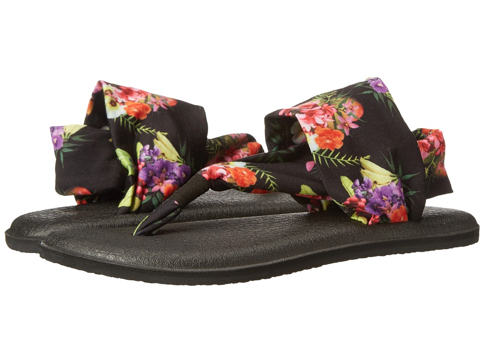Sanuk - Yoga Sling 2 Prints (Black Tropic Amazon) Women's Sandals