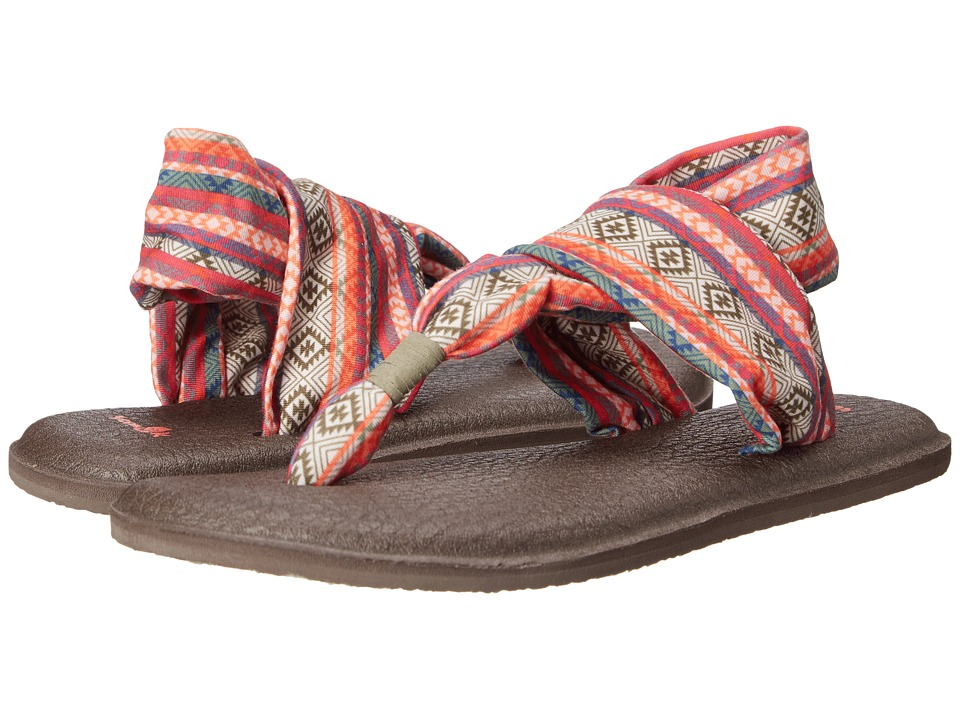 Sanuk Yoga Sling 2 Prints (Olive/Multi/Tribal Stripe) Women