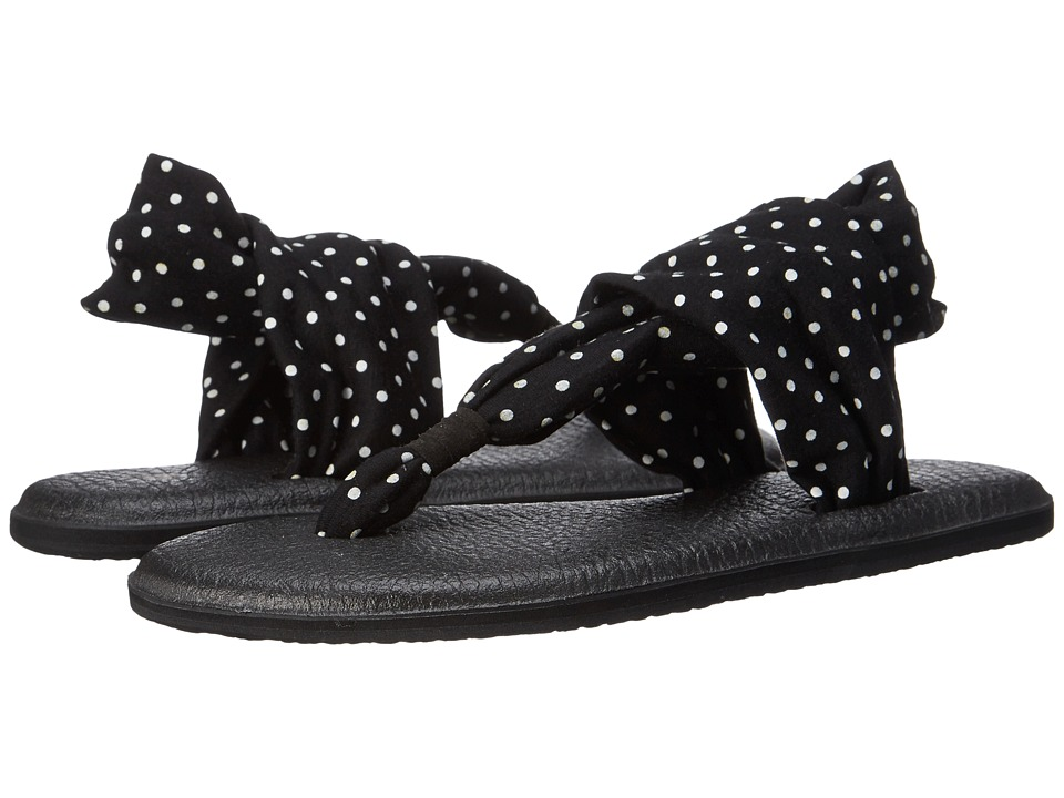 Sanuk - Yoga Sling 2 Prints (Black/White Dots) Women's Sandals