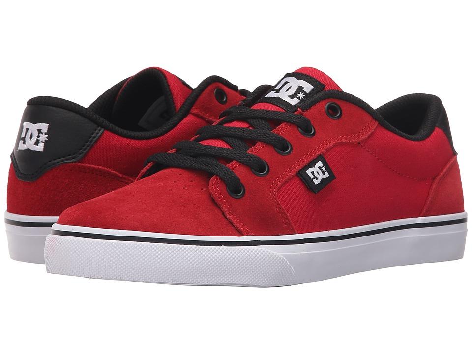 DC Kids - Anvil (Big Kid) (Athletic Red/Black) Boys Shoes