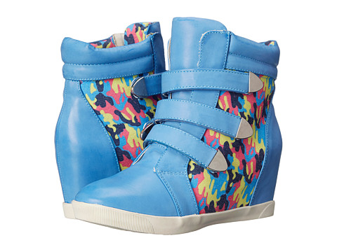 DOLCE by Mojo Moxy - Graffiti (Blue) Women's Hook and Loop Shoes