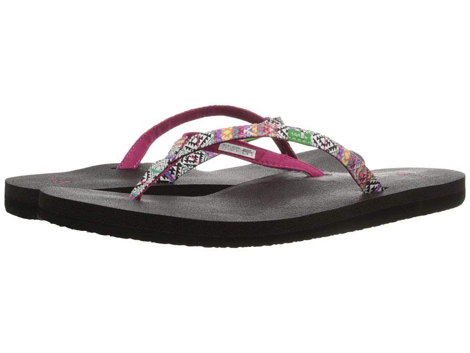 Sanuk - Yoga Joy Funk (Magenta/Multi Tribal Stripe) Women's Sandals