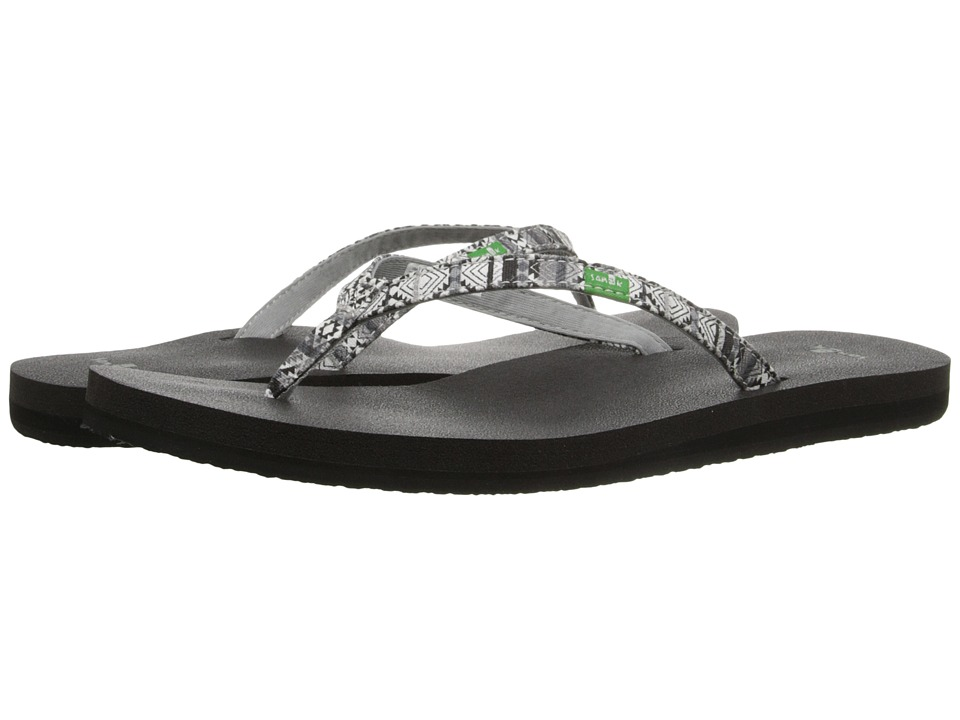 Sanuk - Yoga Joy Funk (Black/Multi Tribal Stripe) Women's Sandals