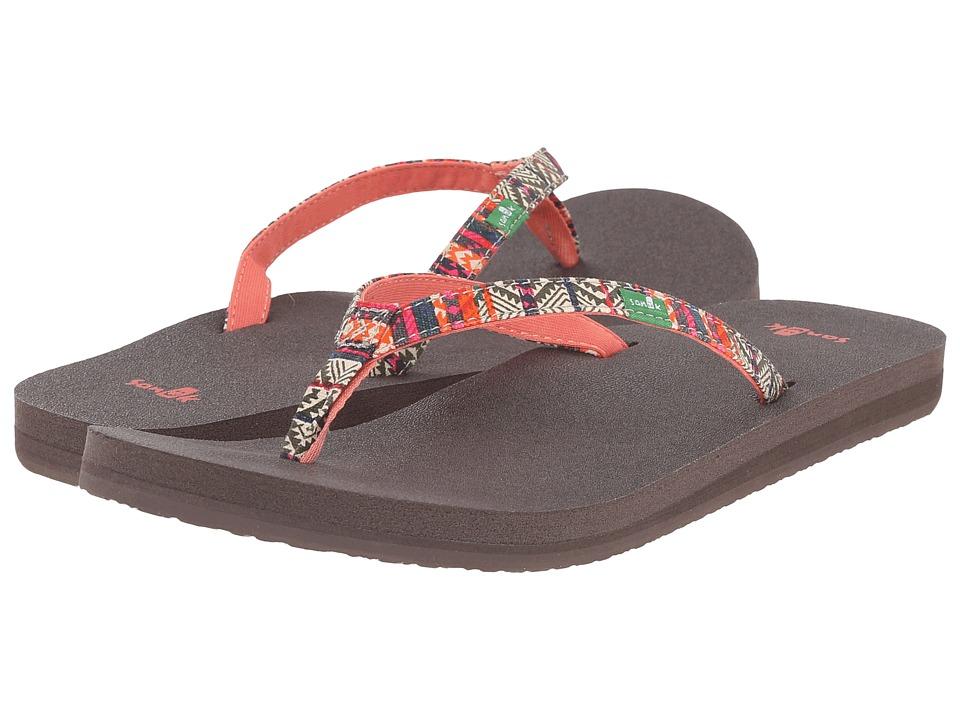 Sanuk - Yoga Joy Funk (Olive/Multi Tribal Stripe) Women's Sandals